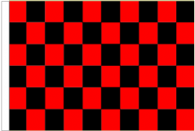 Red And Black Check 5' x 3' Larger Sleeved Flag